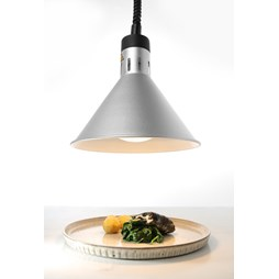 Hendi Rise and Fall Silver Adjustable Conical Heat Lamp 273869