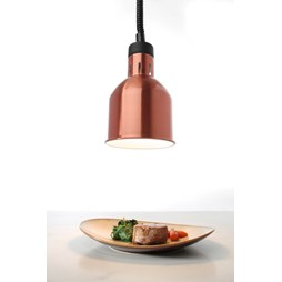 Hendi Rise and Fall Copper Adjustable Cylindrical Heat Lamp 273890