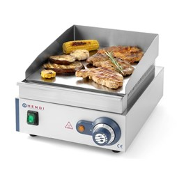 Hendi Smooth Chrome Plate Commercial Electric Griddle. Blue Line 203125