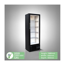 Husky Premium CUB300 Upright Bar Fridge - Slimline Profile - Ideal For Bars