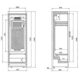 Interlevin SC381B Commercial Glass Door Display Fridge