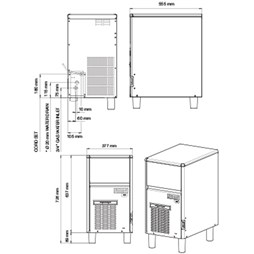 Simag Ice Machine. Makes Up To 38kg a Day With 12kg Storage Bin