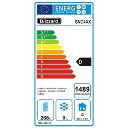 Blizzard 4 Door Low Height 650mm Refrigerated Prep Counter