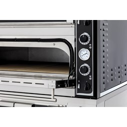 """Italinox Twin Deck 3 Phase Electric Pizza Oven 18x14"""" Pizzas Superior XL99 Glass"""