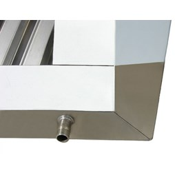 1500mm Wide Commercial Ceiling Extractor Hood Canopy with Grease Filters & Light