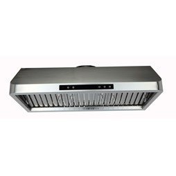 Quattro 900mm Compact Commercial Extractor Hood with Motor, Filters, Lights