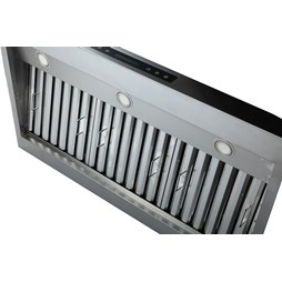 Quattro 1200mm Wide 610mm Deep Commercial Extractor Hood with Motor