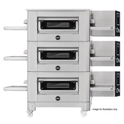 """Italinox Prisma 26"""" Belt Natural Gas Conveyor Pizza Oven C/65 With Free Stand"""