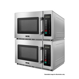 Quattro 1800w 34ltr Stackable Commercial Microwave Oven - Heavy Duty