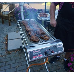 Hendi Xenon Pro Stainless Steel Gas BBQ. Portable with folding legs