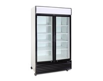 Gastroline Glass Double Door Fridge With Canopy - Commercial 600 ltr 20 cu ft
