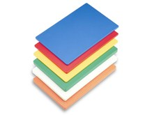 Quattro High Density Colour Coded 1cm thick PE Cutting/Chopping Board PACK OF 6