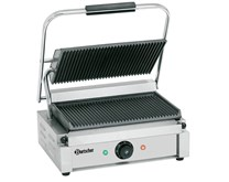 Bartscher Contact Panini Grill Ribbed Top and Bottom Plates
