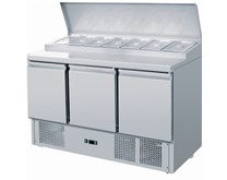 Ice-A-Cool ICE3869GR PS300 Pizza Salad Prep Counter In 7 x 1/3 GN Pans