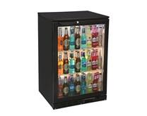 Blizzard Single Door Bottle Cooler in Black