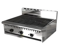 Chef King Imperial 36inch Gas Charbroiler Heavy Duty 3 Burner 915mm Wide. Natural Gas