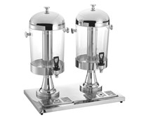 Quattro Twin Chrome 2 x 8 Litre Executive Juice Dispenser With Ice Chambers