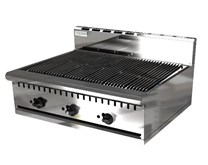 Chef King Imperial 36 inch Lava Rock Gas Chargrill Heavy Duty 3 Burner 915mm