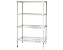 Quattro 4 Tier Storage Racking 1200mm Wide Adjustable Shelves