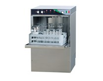 Italinox Commercial Glasswasher with 400mm Basket, Rinse Aid and Drain Pump