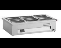 Inomak Stainless Steel Countertop Bain Marie 3xGN1/1 MAV610 + Digital Controller