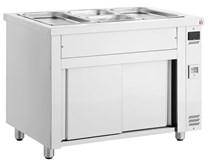 Inomak Stainless Steel Bain Marie + Ambient Base Heated Cupboard MDV711
