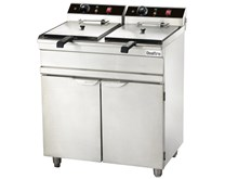 Quattro Floor Standing 2 x 16 Litre Twin Tank Electric Commercial Fryer