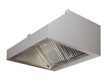 2500mm Wide Commercial Extractor Hood Canopy with Grease Filters. 900mm Deep