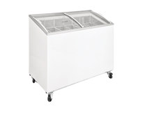Gastroline 187 Litre Ice Cream Freezer with Curved Sliding Glass Lid