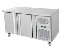 Gastroline 2 Door Freezer Prep Counter 700mm Deep With Fitted Castors