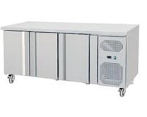 Gastroline 3 Door Freezer Prep Counter THP3100BT 700mm Deep With Castors