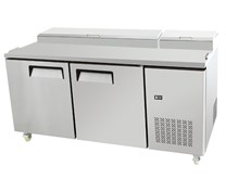 Gastroline AT 2 Door Pizza Prep Counter American Style MPF8202