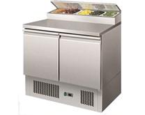 Gastroline 2 Door Refrigerated Sandwich & Pizza Prep Counter 5 x 1-6 GN Pan Well
