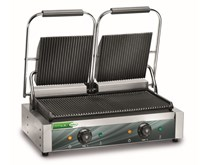 Fama FPCG50R Twin Contact Grill Ribbed Top and Bottom Plates. Fama Italy