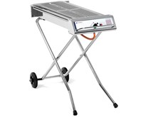 Hendi Xenon Pro Stainless Steel Gas BBQ. Portable with folding legs