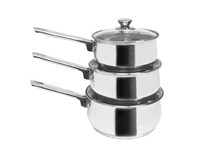 Set of 3 x Induction Pans For Use With Induction Cookers