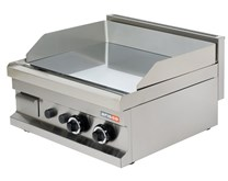 Italinox Arisco Gas Griddle - 2 Burner Smooth Mirror Finish Stainless Steel Natural Gas or LPG
