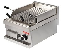 Italinox Arisco Gas Lava Rock Chargrill - 1 Burner. 400mm Wide - Heavy Duty. Natural Gas or LPG