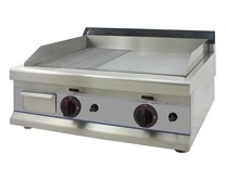 Italinox 650mm Gas Griddle 2 Burner Top Ribbed & Plain with LPG Conversion Kit