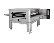 "Italinox Prisma 26"" Belt Electric Conveyor Pizza Oven C/65 1ph + Free Stand Electric"