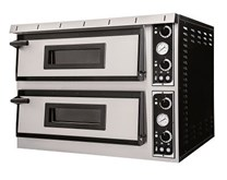Italinox Prisma Plus XL66 Twin Deck Electric Pizza Oven. 12 x 14 Inch Pizzas - Made In Italy