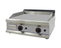 Italinox Gas Griddle Smooth Top - 2 Burner - 650mm Wide LPG or Natural Gas