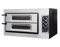 Italinox Prisma Forno Basic 2-50 3T Vetro Mini Twin Deck Pizza Oven