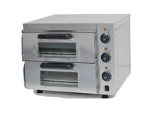 Italinox 410mm Compact Twin Deck Electric Pizza Oven