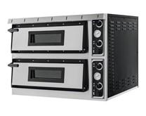 Italinox Prisma Plus XL44 Twin Deck Electric Pizza Oven. 8 x 14 Inch Pizzas