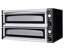 Italinox Prisma Superior XL99 Glass Twin Deck Electric Pizza Oven