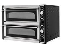 Italinox Prisma Superior XL66 Glass. Twin Deck Electric Pizza Oven