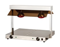 Quattro Twin Lamp Heated Display Carvery With Heated Ceramic Glass Base