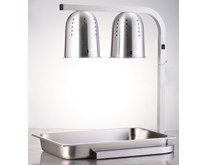 Quattro Twin Lamp Heated Display With GN 1-1 Size Base Tray