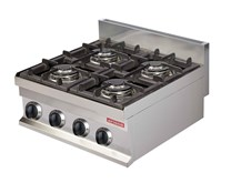 Italinox Arisco Heavy Duty 4 Burner Gas Hob Burner - Natural Gas or LPG